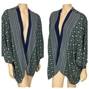 Watermelon Kimono Navy Blue and Green X Large